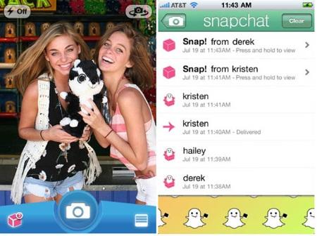 sending photos on snapchat