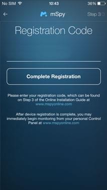 mspy registration code