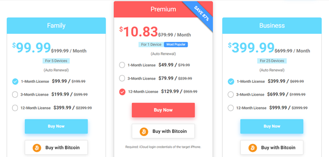 CocoSpy pricing